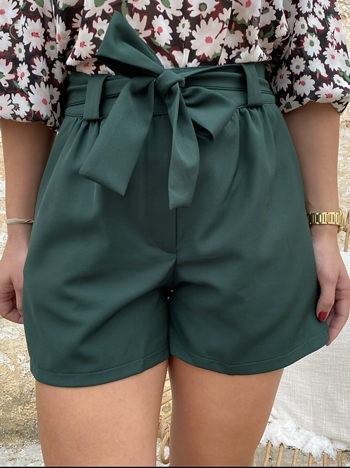 Short lazo verde oscuro