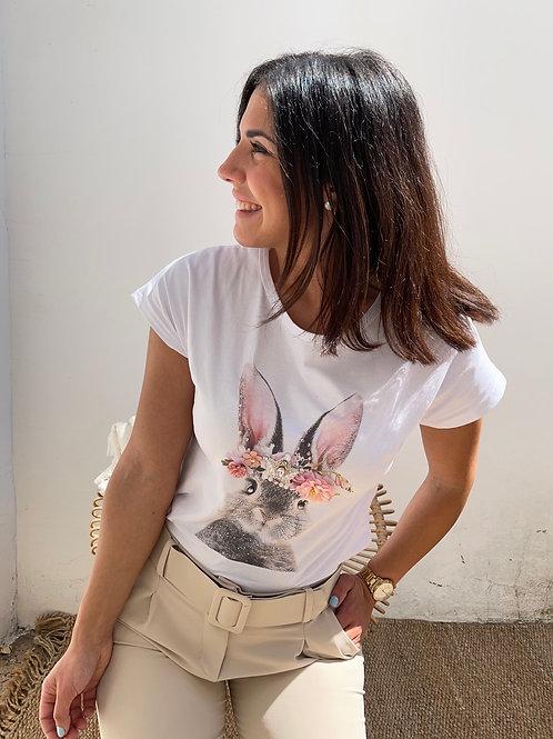 Camiseta conejo rosa