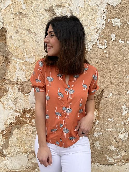 Blusa flamencos naranja