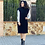 Thumbnail: Vestido punto hombreras negro
