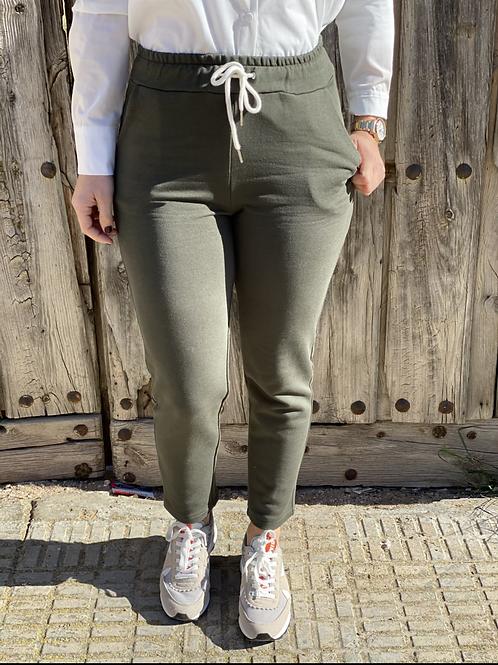 Pantalón de algodón verde