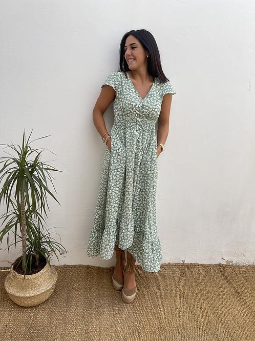 Vestido Graciela verde