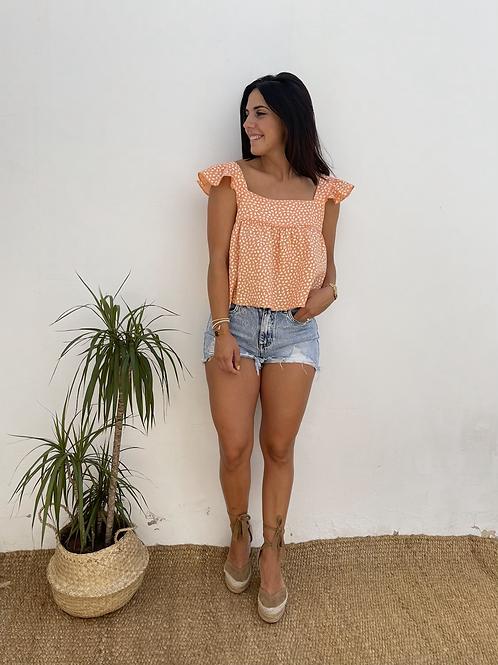 Blusa candela naranja