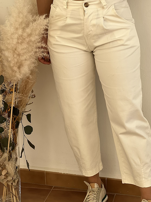 Pantalón slouchy blanco roto