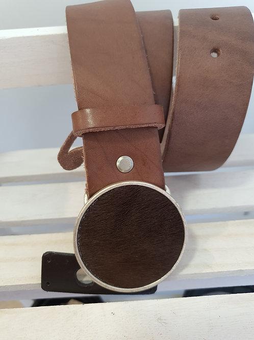 Cinturón piel marrón