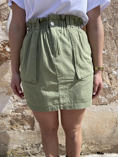 Falda goma verde