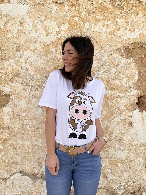 Camiseta vaca básica