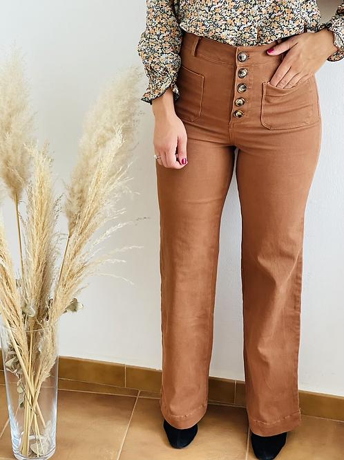 Pantalón  botones camel