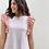 Thumbnail: Camiseta rayas volante rosa
