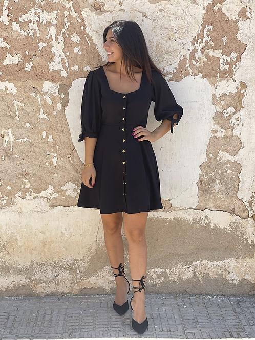 Vestido básico negro