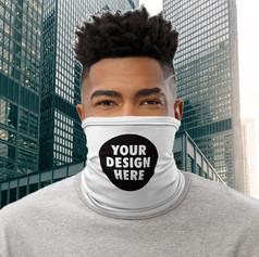 Custom printed face coverings by logo face masks uk