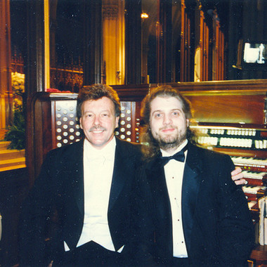 With the late John-Michael Caprio at St. Patrick's Cathedral, May 1996