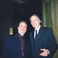 With Simon Preston in New York, May 2004
