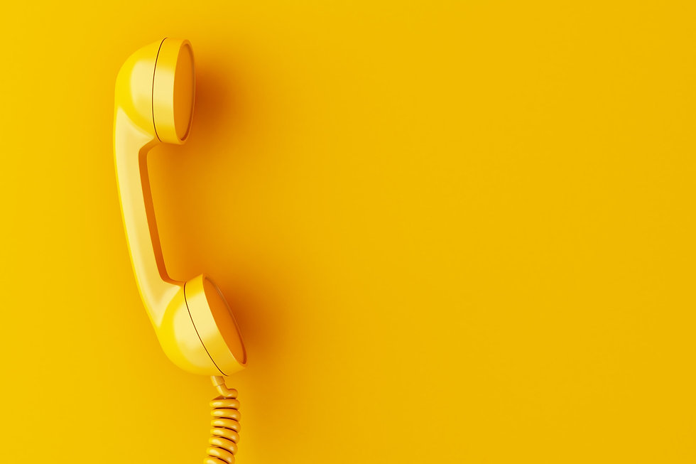 3d-phone-reciever-on-yellow-background (