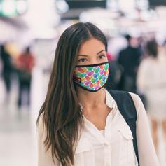 Reusable cotton face masks with logo