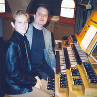 With Lena in Dortmund, August 2003, practicing for the first concert together