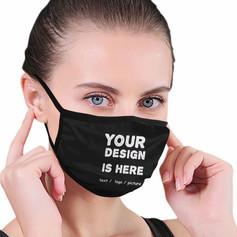 Custom logo printed face masks