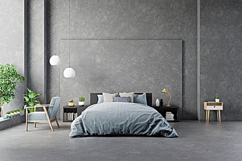 bed-with-sheets-bedroom-interior-concret