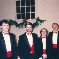 With Dale Robertson, Garrett Allman and Rudolf Zuiderfeld, Illinois College, Christmas Concert, December 1988