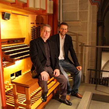 Concert, Essener Dom, Germany, September 2011, with Domorganist Jörg Schwab