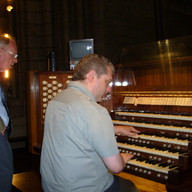 Improvising at Notre-Dame de Paris, with Philippe Lefebvre, June 2010