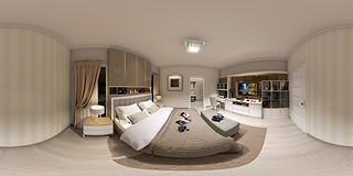 360 VR Photo of Bedroom