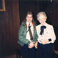 With Catherine Crozier, Illinois College, April 1989
