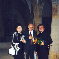 With Mr. & Mrs. Petr Eben, Prague, July 2001