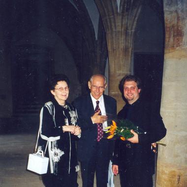 With Mr. & Mrs. Petr Eben, Prague, July 2001