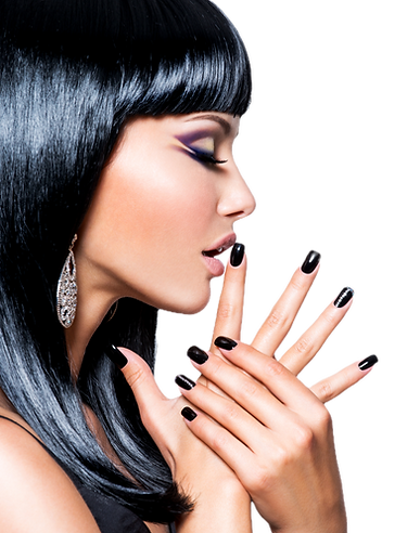 beautiful-brunet-woman-with-black-nails-