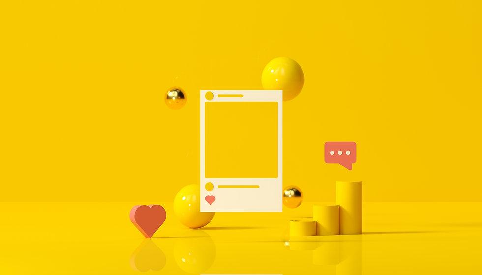 social-media-with-instagram-photo-frame-