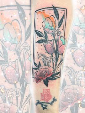 Tarot Style w/Flowers
