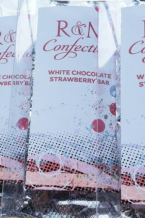 White Chocolate Strawberry Bar