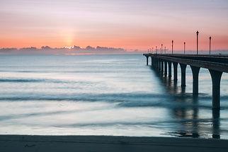 New Brighton Pier at sunrise, Christchur