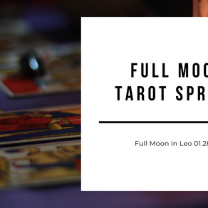 Full Moon in Leo Tarot Spread + Ceremony