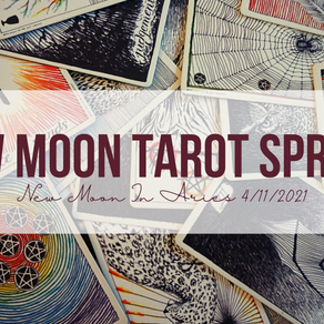 New Moon in Aries Tarot Spread