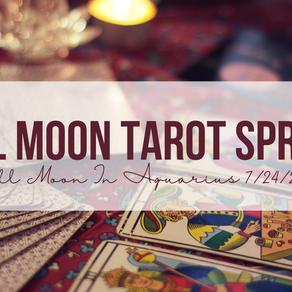 Tarot Spread for Full Moon in Aquarius
