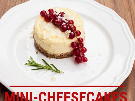 Festive Mini Cheesecakes (Raw, Vegan, Gluten Free)