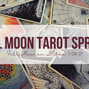 Full Moon in Libra Tarot Spread