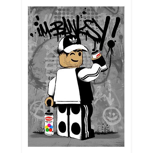 I'm Banksy   STREET EDITION   Grey