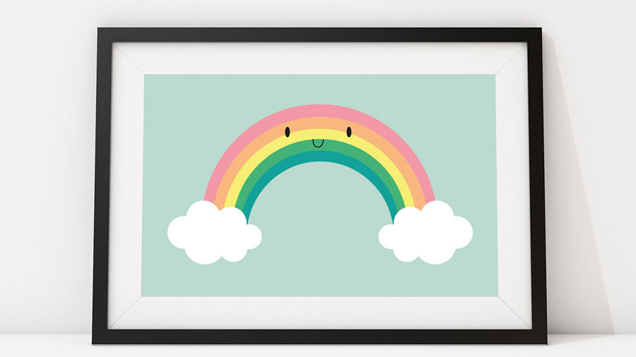 Rainbow Clouds poster