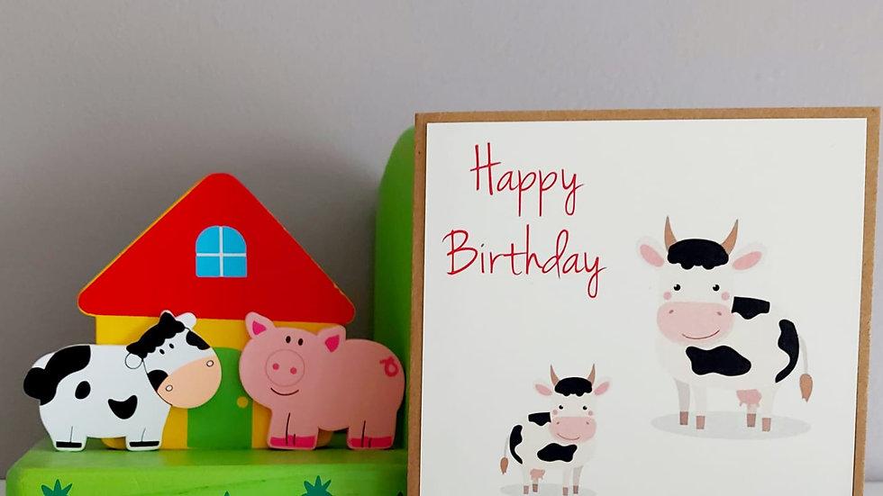 Farmyard Birthday Card