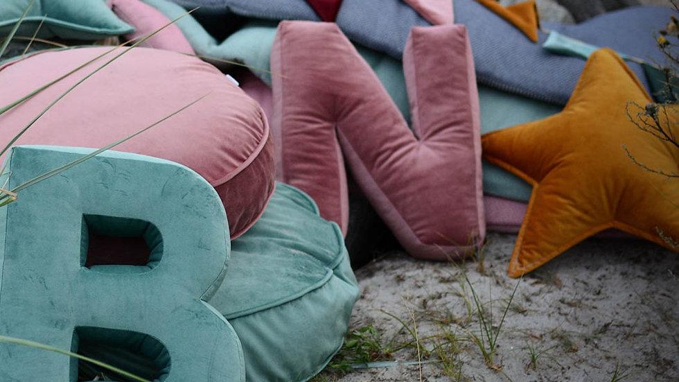 """""""N"""" Velvet Letter Cushion"""