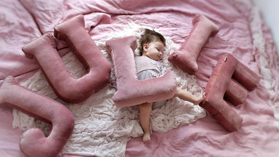 """""""L"""" Velvet Letter Cushion"""