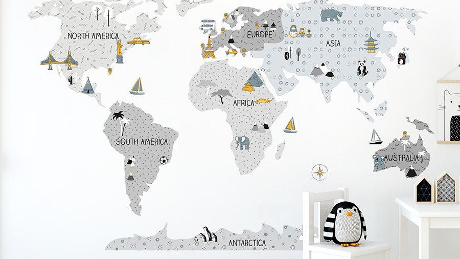 World Map- Grey