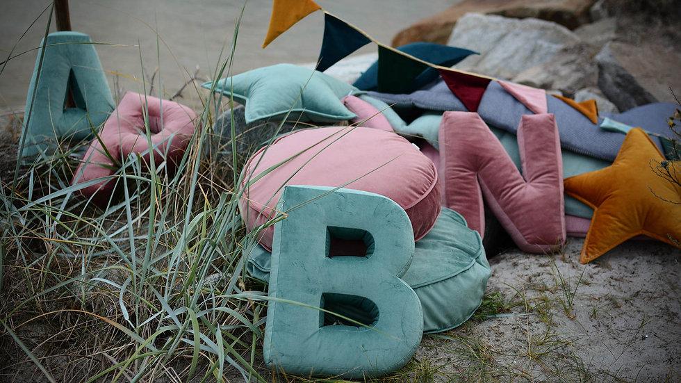 """""""B"""" Velvet Letter Cushion"""