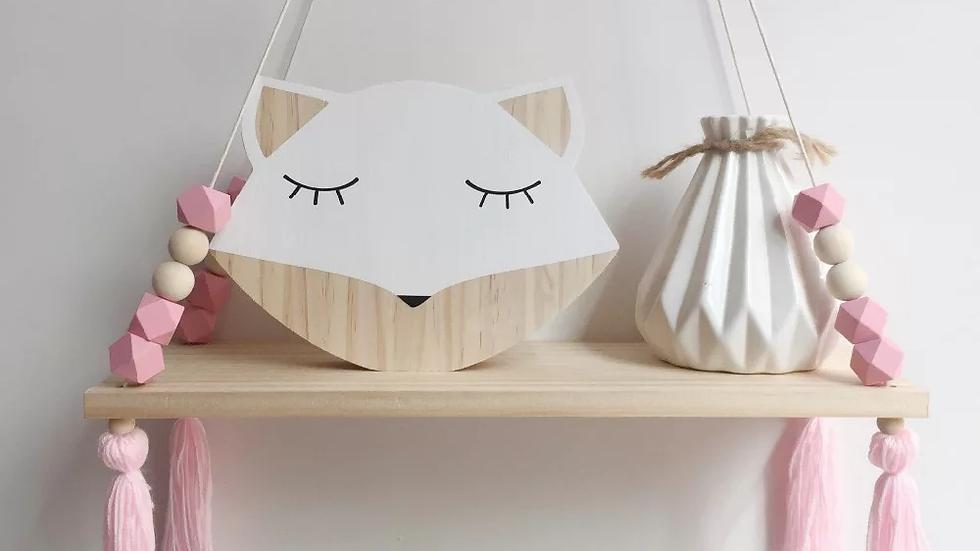 Nordic Style hanging wooden shelf