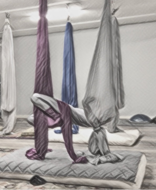 Hanging the Silks at Home