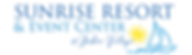 Sunrise Resort & Event Center Logo Trans
