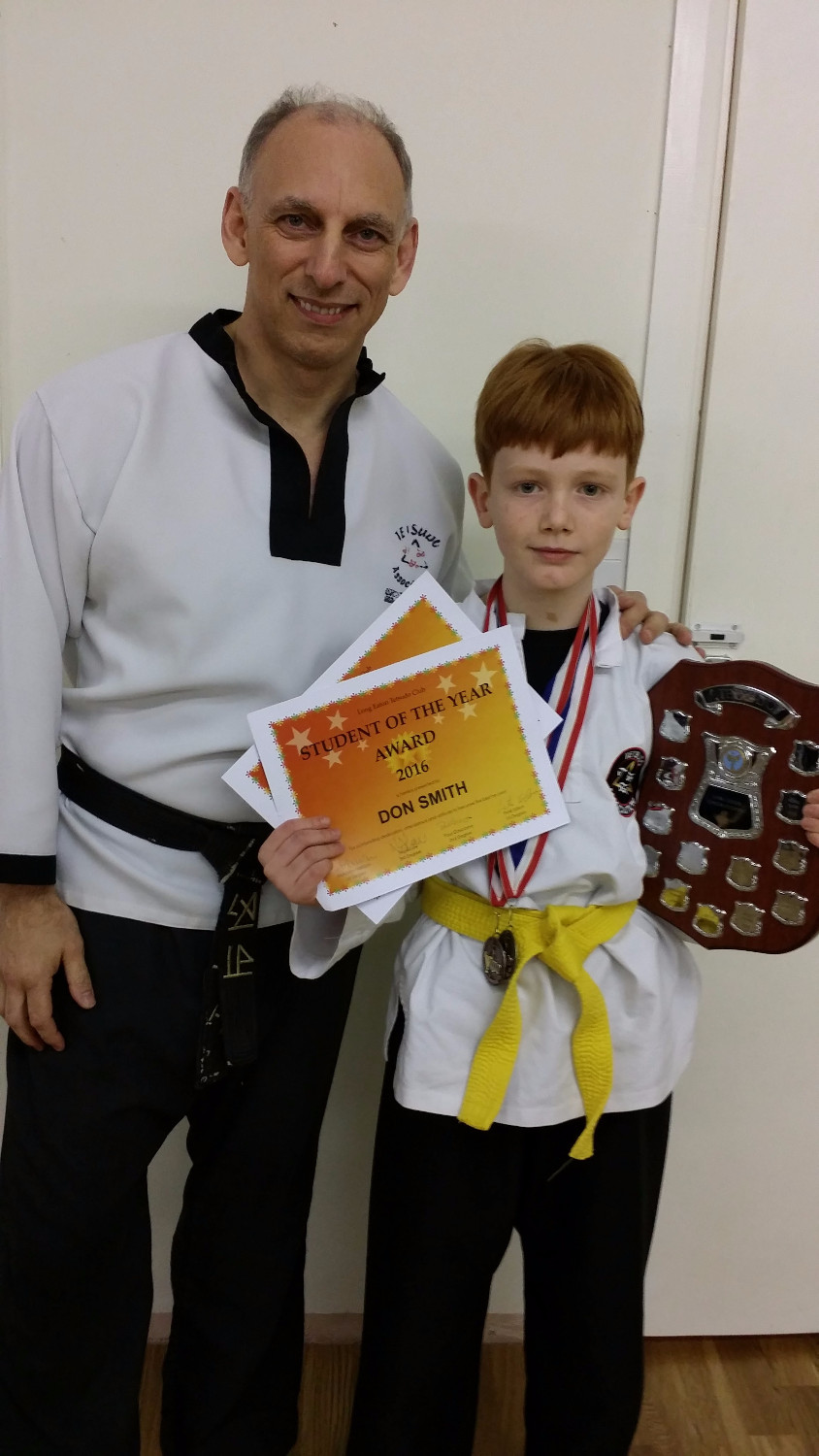 Don Smith Student of the Year with Instructor Paul Gascoyne